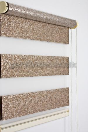 Brun mønstret zebra gardin 430