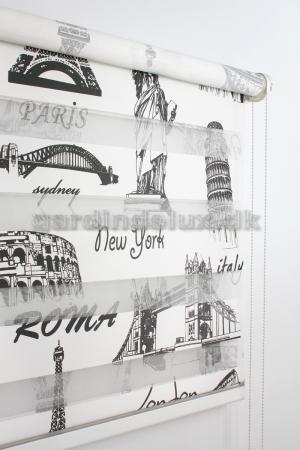 Paris print zebra gardin