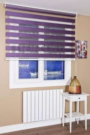 Lux bambus violet zebra gardin
